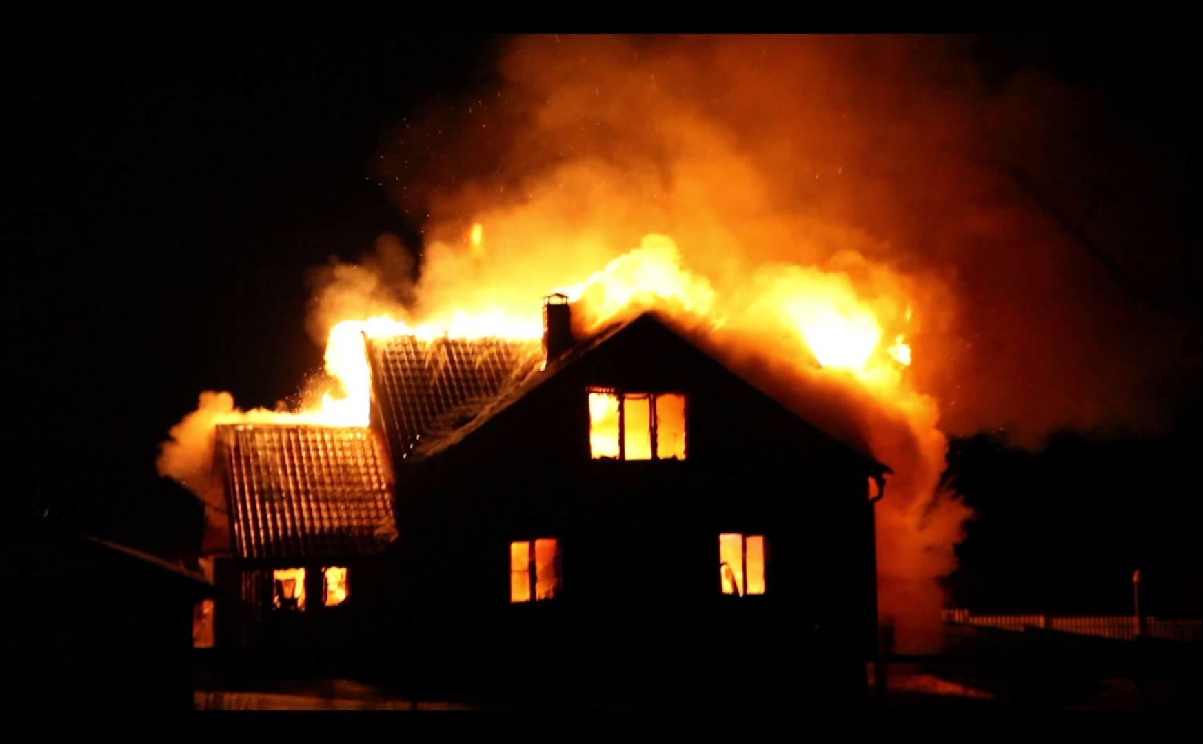 Сгоревший дом картинка